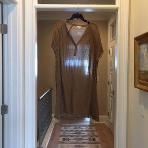 Garnet Hill taupe cotton dress (bw)